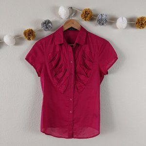 The Limited Ruffle Button Up Blouse Size Small